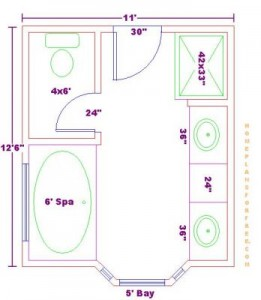 Lori gilder Bathroom blueprints for 8x10 space