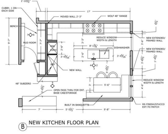 Floor Plan for the Kitchen Remodel