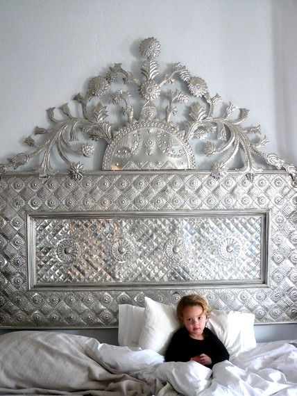 Pressed Tin Headboard_photo Casamidy